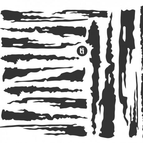 Stripe Lines Basic Stencil